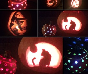 art, carving, and pumpkin carving image