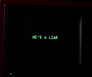 green, him, and liar image