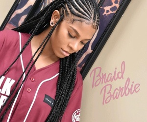 braids, hairstyle, and girls image