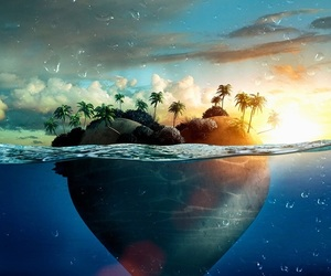 heart, sea, and love image