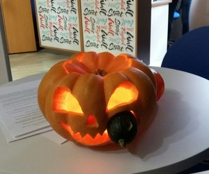 carve, carving, and Halloween image