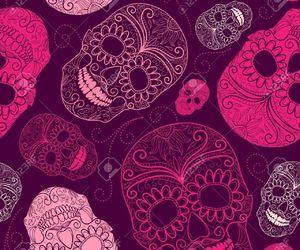 pink and skulls image