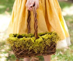 barefoot, dress, and green image