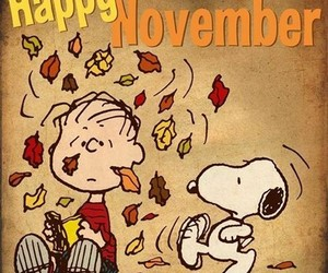 november, snoopy, and fall image