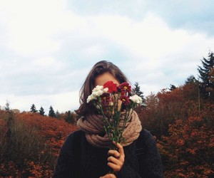 autumn and flowers image