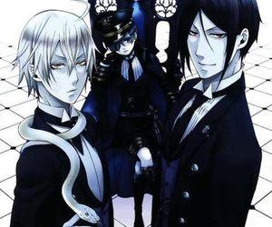 kuroshitsuji, black butler, and snake image