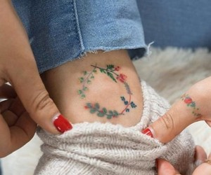 colors, flower, and tattoo image