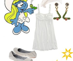 clothes, set, and smurfs image