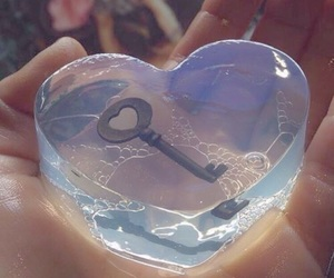 heart, key, and aesthetic image