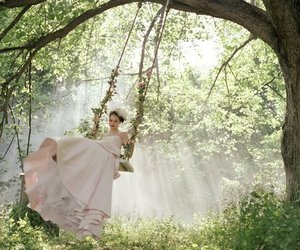 swing, dress, and nature image