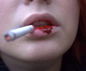 blood, cigarette, and smoke image