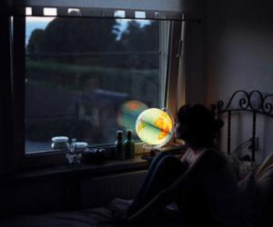 girl, world, and light image