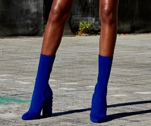 blue, fashion, and high heels image