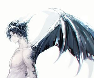 anime, wings, and demon image