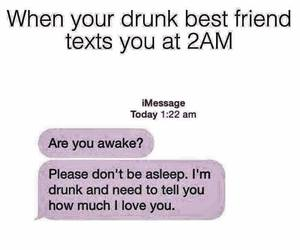 best friends, drunk, and friendship image