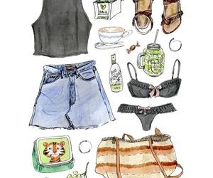 basil, dibujo, and fashion illustration image