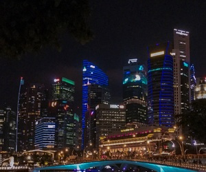 buildings, city lights, and cityscape image
