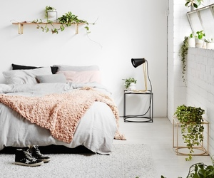 bedroom, clean, and cosy image