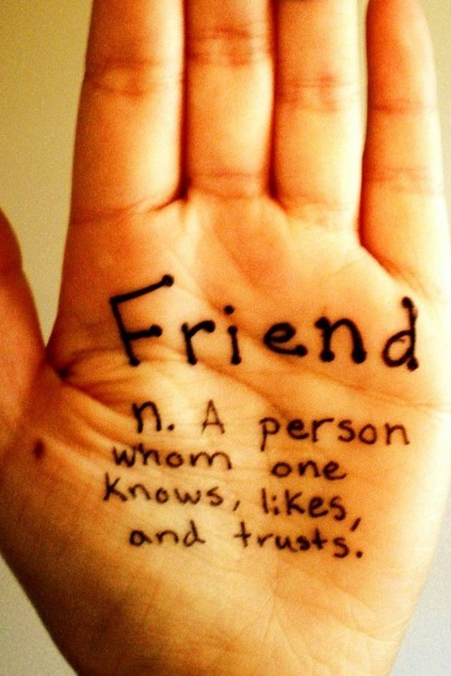 friends, hand, and quotes image