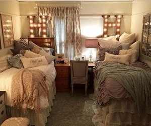 bedroom, college, and decor image