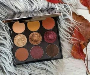 makeup, eyeshadow, and fall image
