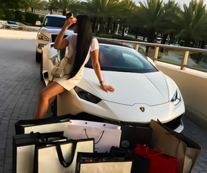 girl, luxury, and car image