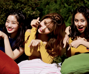 sana, dahyun, and chaeyoung image