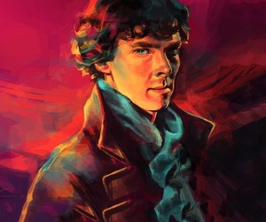 sherlock, art, and painting image