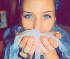 smoke, girl, and weed image