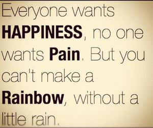 rainbow, pain, and quote image