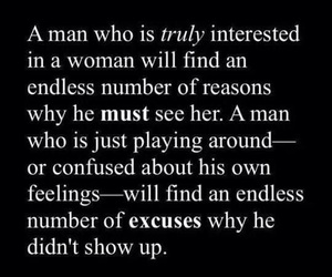 excuses and man image