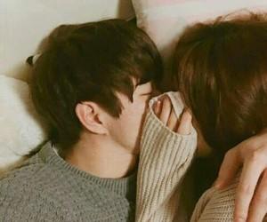 couple, asian, and kiss image