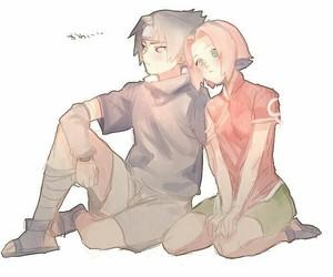 couple, sasusaku, and love image