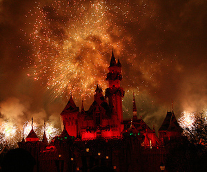 photography, disney, and fireworks image