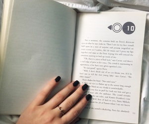 books, nails, and ring image