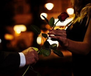 gentleman, rose, and love image