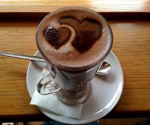 chocolate, heart, and hot ​chocolate image