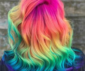 colorful, girl, and colors image