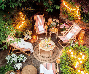 backyard, outdoor, and outdoor living image
