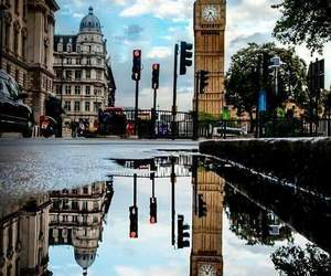 london, Big Ben, and rain image