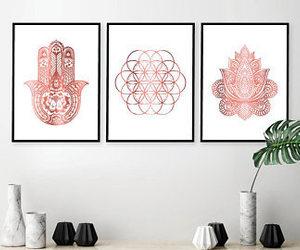 art, flower of life, and hamsá image