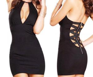 dress, black, and sexy image