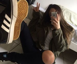 girl, adidas, and aesthetic image
