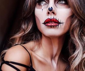 glitter, Halloween, and makeup image