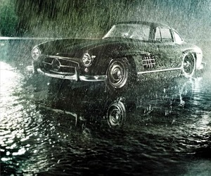 cars, green, and mercedes benz image