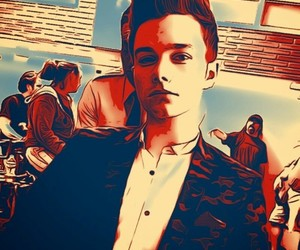 chill, chris colfer, and glee image
