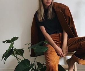 blonde, coat, and brown image