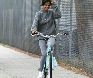 selena gomez, beautiful, and biking image