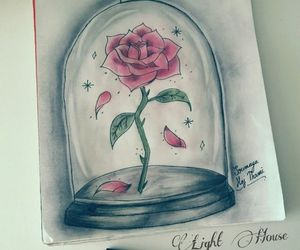 rose, art, and beast image