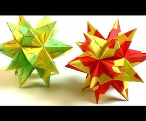 video, modular origami, and origami star image